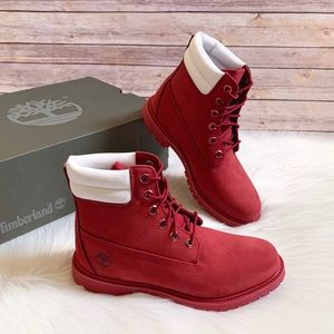"Timberland Women's Dark Red Waterville 6"" WP Boots"